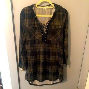 Ultra Flirt 3/4 sleeve T-shirt dress